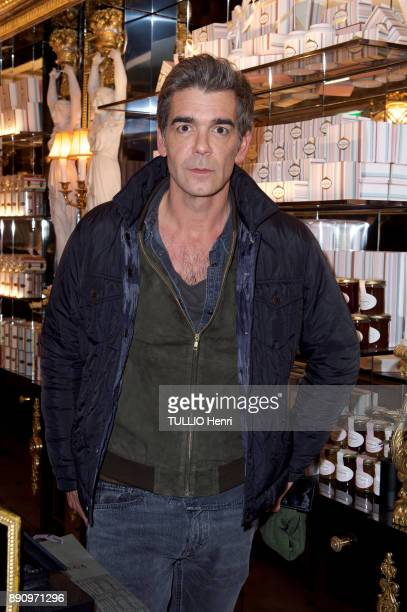 at the evening gala for the opening the Cafe Pouchkine Xavier De Moulins is photographed for Paris Match at Place de la Madeleine on november 29 2017...