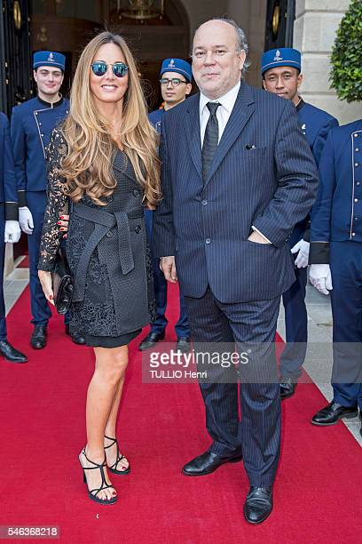 at the evening gala for the reopening of the Ritz Palace after 4 years of renovation Marc Lambron and Delphine MarangAlexandre pose for Paris Match...