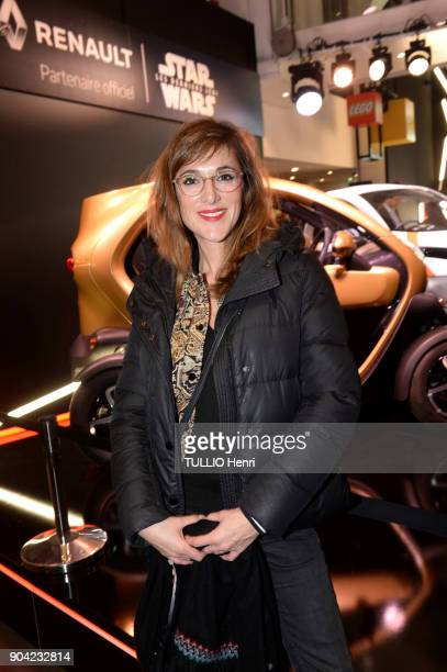 at the evening of Renault for the movie Star Wars and the presentation of Zoe the electric car at L'Atelier Renault Victoria Bedos is photographed...
