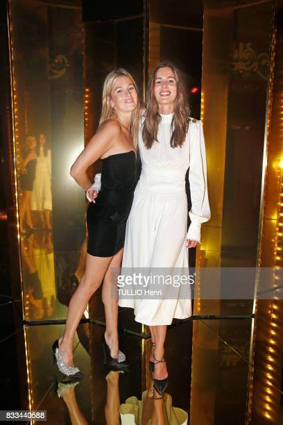 at the evening of the jeweler Chaumet Camille Charriere and Eleonor Toulin on july 02 2017 in Paris France