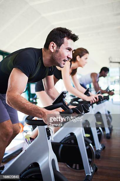 At the spinning class.