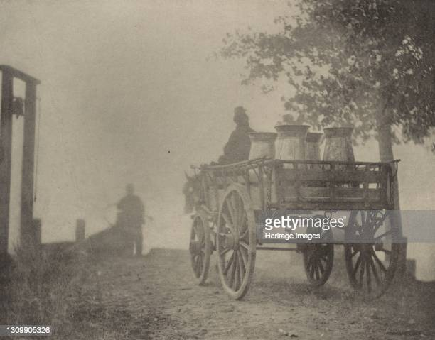 At the Ferry?A Misty Morning, 1890-1891, printed 1893. Artist Dr Peter Henry Emerson. .