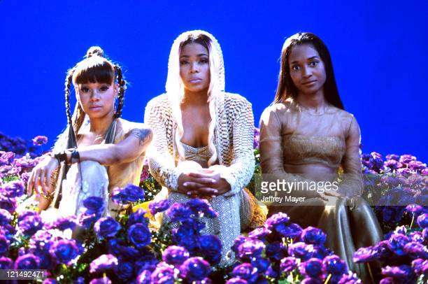 TLC at the filming of their video Unpretty in Valencia CA June 21 1999 Lisa Left Eye Lopes was killed in a car crash in Honduras April 25 2002
