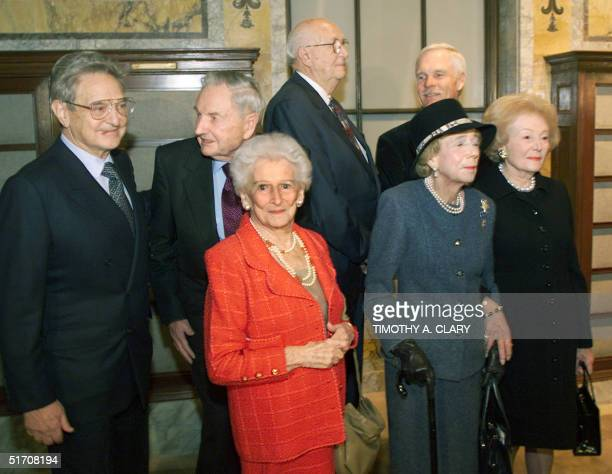 At the first Andrew Carnegie Medals of Philanthropy Awards cerempony recipients George Soros David Rockefeller Irene Diamond William Gates III Brooke...