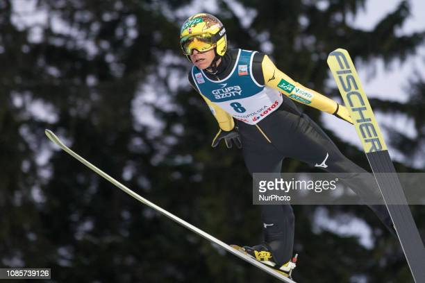 at the FIS Ski Jumping World Cup competition on January 20 2019 in Zakopane Poland