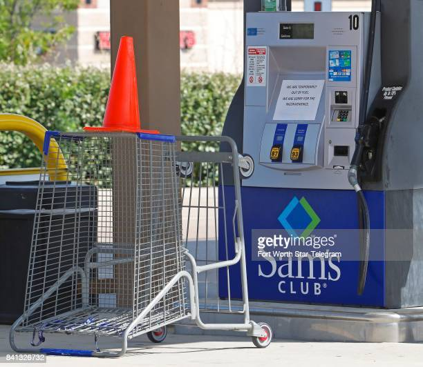 At the Forth Worth Texas Sam's Club on Bryant Irvin Road and I20 the soldout pumps were blocked with cones and grocery baskets as the public becomes...