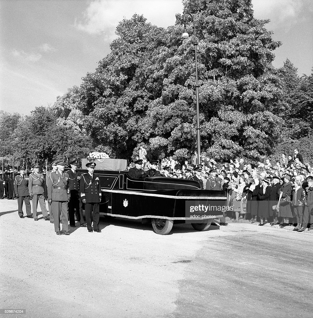 At The Funeral Of King Haakon VII Norway 1872 1957 In Oslo