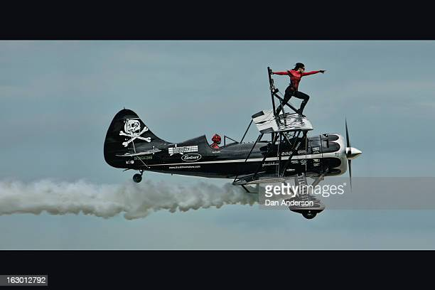 CONTENT] At The Great Minnesota Air Show this is the flying circus/wing walking act called 'The Pirated Skies' by husband and wife team Kyle and...