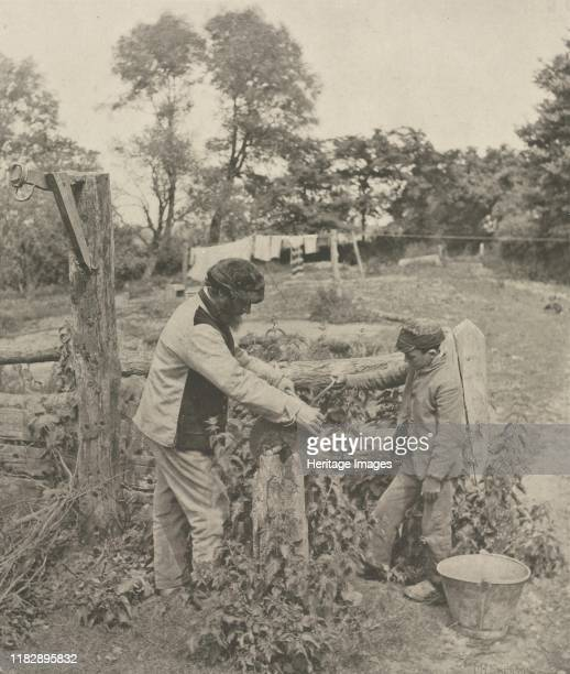 At the Grindstone--A Suffolk Farmyard, 1888. Creator William Sidney Mount .