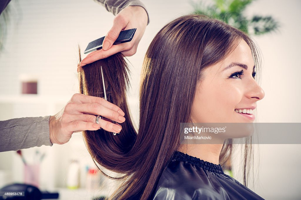 At The Hairdresser's : Stock Photo