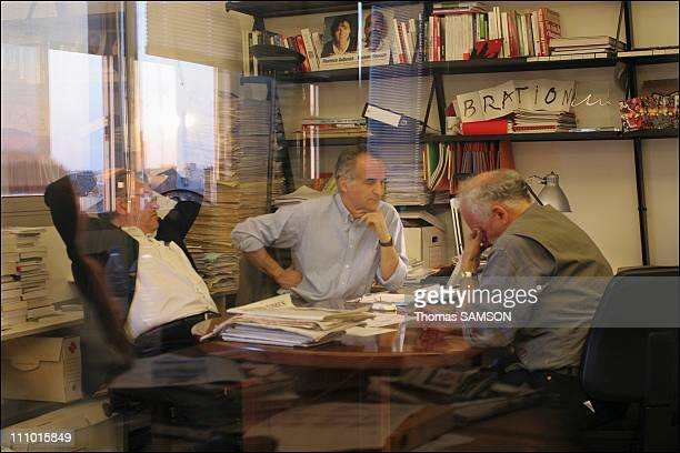 At the headquarters of French newspaper Liberation the day when French hostage and journalist Florence Aubenas was free after being held for five...