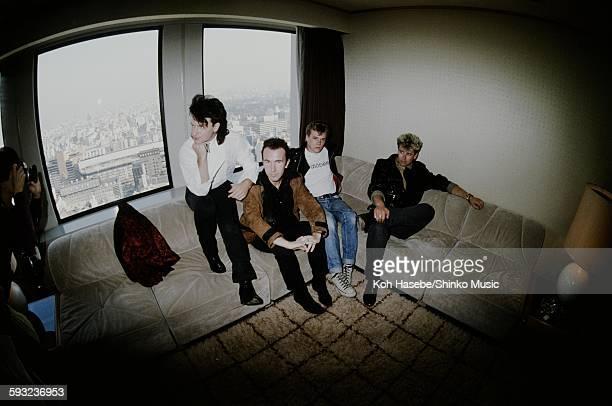 U2 at the hotel Tokyo November 1983