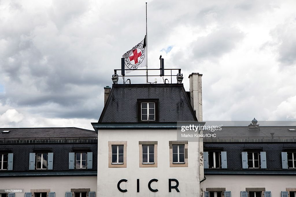 At the ICRC (International Committee of the Red Cross and Red Crescent)'s international headquarters in Geneva, their flag flies at half mast in mourning, following the attack on the ICRC office in Jalalabad, Afghanistan on May 29, 2013. One staff member, Abdul Bashir Khan, an Afghan guard, was killed and three others, an expatriate and two national colleagues, were slightly wounded. All other staff are safe and well.