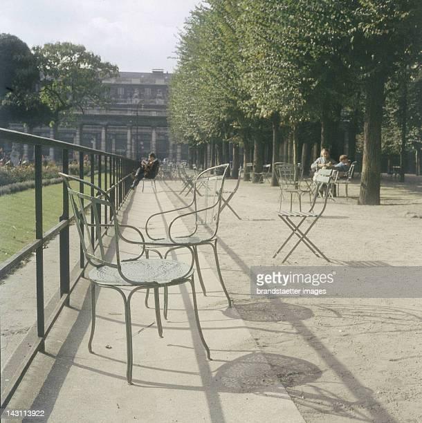 At the Jardin du Palais Royal Paris Photograph September 1958