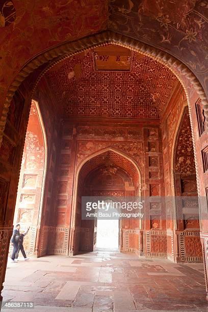 at the jawab, taj mahal, agra, india - interior of taj mahal stock pictures, royalty-free photos & images