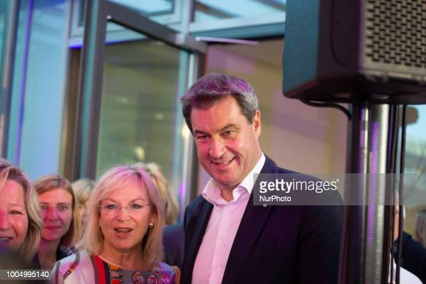 At the 'Lange Nacht der Frauen' 'Long night of the women' of the Frauen Union the Bavarian prime minister Markus Soeder participated at panel...