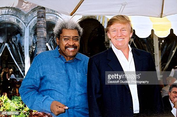 At the Mar-a-Lago estate, American boxing promoter Don King talsk with businessman Donald Trump, Palm Beach, Florida, 2005.