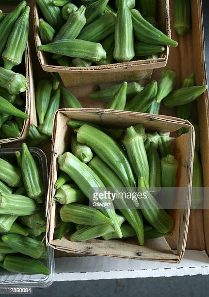 at the market: okra