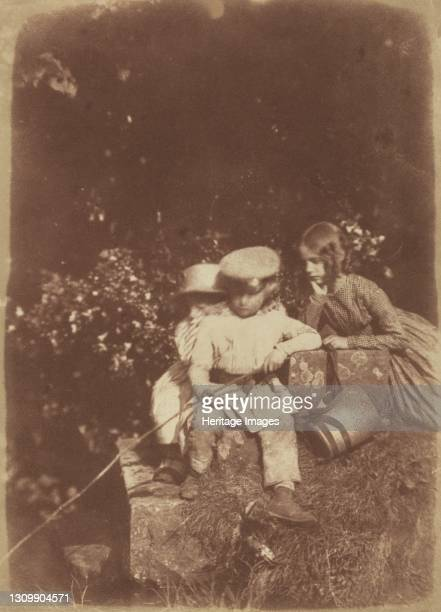 At the Minnow Pool, 1843-1847. Artist David Octavius Hill, Robert Adamson. .