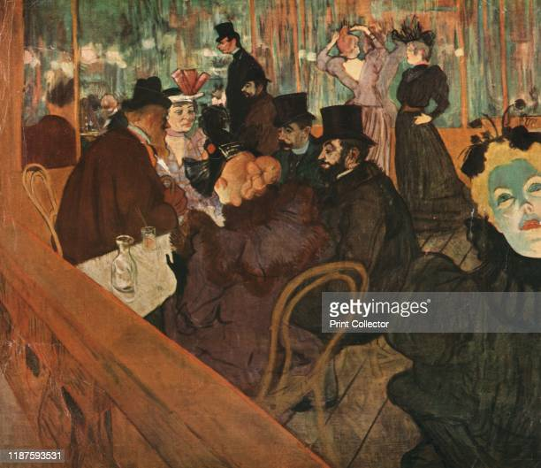 At the Moulin Rouge' Scene in the Moulin Rouge cabaret in Paris dancers Jane Avril May Milton and La Goulue in the background Also seated at the...