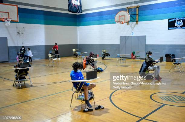 At the Mulberry Street location of the Olivet Boys and Girls Club in Reading Tuesday morning January 19, 2021 where the club has resumed providing a...