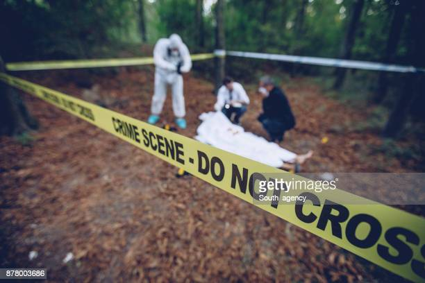 At the murder scene