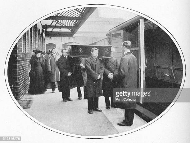 At the Necropolis Company's station Westminster Bridge Road London circa 1900 The London Necropolis Railway was opened in 1854 as an alternative to...