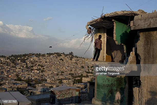 At the neighborhood of Fort National that was one of the most severely damaged places in Haiti during the earthquake February 2011 in PortauPrince...