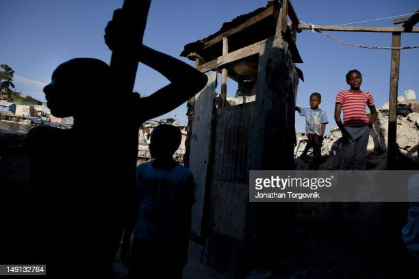 At the neighborhood of Fort National that was one of the most severely damaged places in Haiti during the earthquake, February, 2011 in...