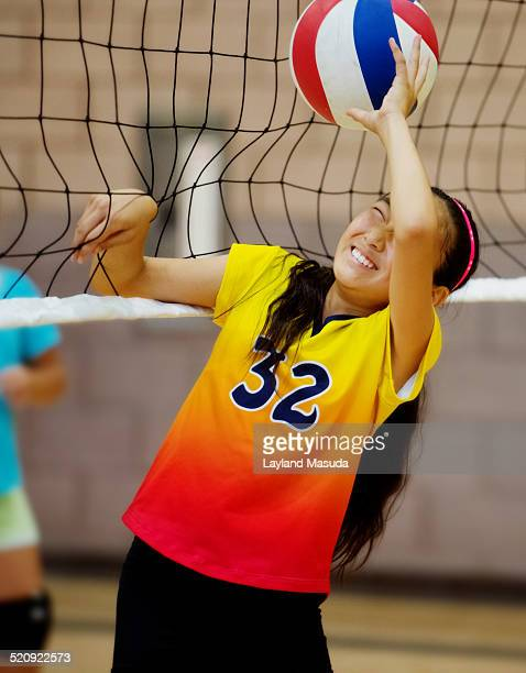 At The Net - Volleyball Girl