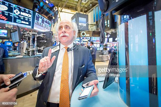 At the NYSE Euronext Stock Exchange floor specialist Peter M Tuchman with Quattro Securities starts trading again after the announcement that the...