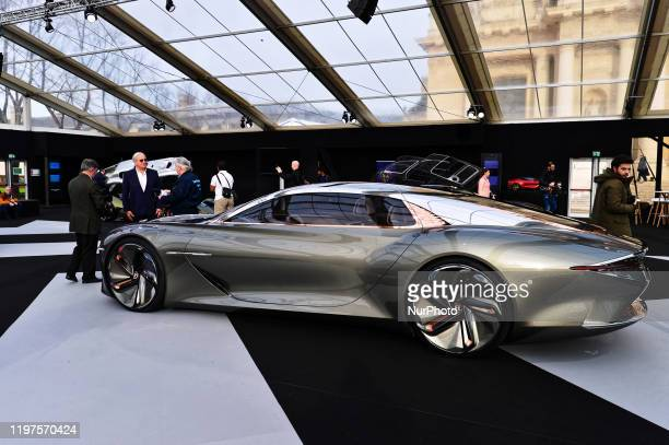 At the Paris Festival Automobile International with Concept Cars and Automotive Design Exhibition, BENTLEY exhibits its model BENTLEY EXP 100 GT...