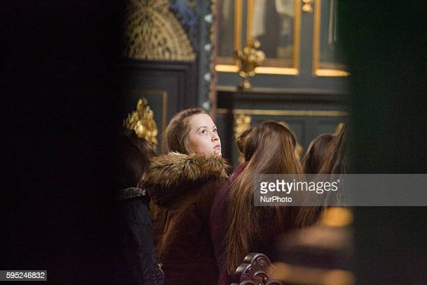 At the Parish Church near the old market square a mass is held for Saint Patrick's day, in Bydgoszcz, Poland, on March 19, 2016. The city's Medical...
