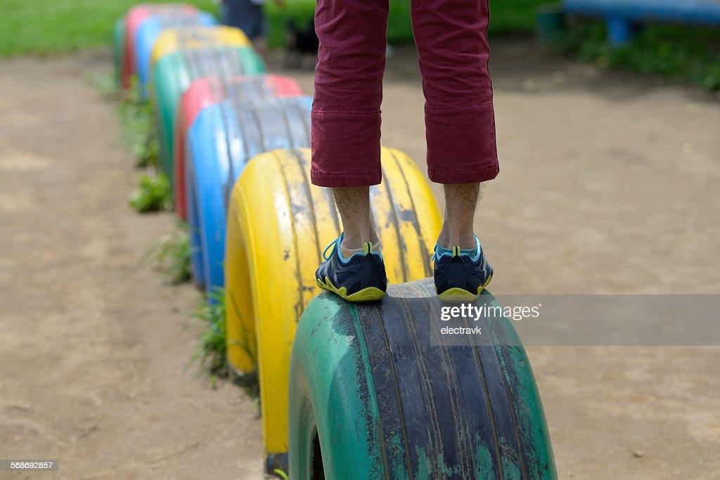 At the playground : Stock Photo