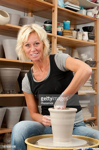 At the pottery wheel