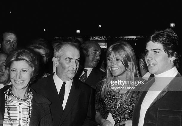 At the premiere of the film L'HOMME ORCHESTRE at a movie theatre on the Champs Elysees in Paris Mrs de FUNES Louis de FUNES JERRY one of the dancers...