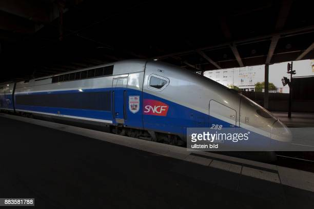 TGV at the railway station in Cannes France