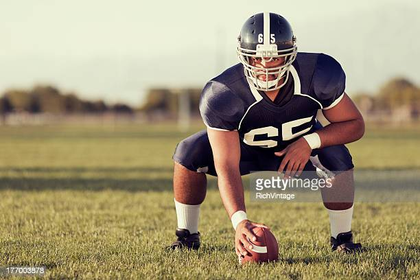 at the ready - center athlete stock photos and pictures