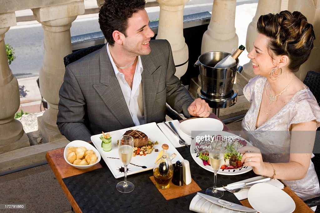 at the restaurant : Stock Photo