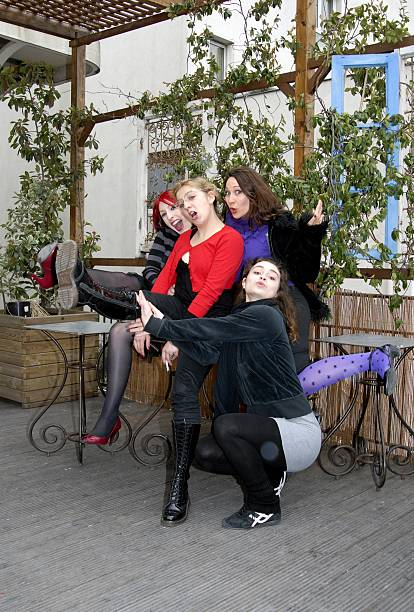 At the school of Juliette Dragon Les Filles de Joie In Paris France On March 17 2009Students of the pinup school Alice seller Lise dancer...