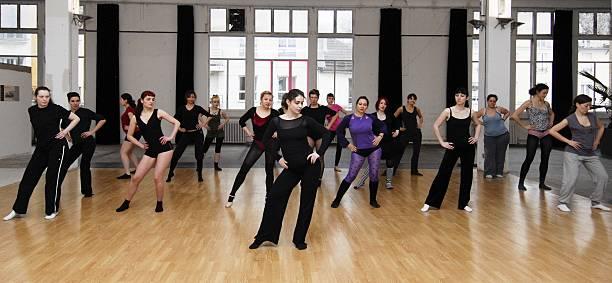 At the school of Juliette Dragon Les Filles de Joie In Paris France On March 17 2009Striptease lesson given by Juliette Dragon and Lise at La...
