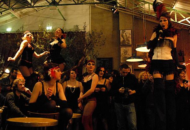 At the school of Juliette Dragon Les Filles de Joie In Paris France On March 17 2009Opening party of the pinup school 'Les Filles de Joie' at La...