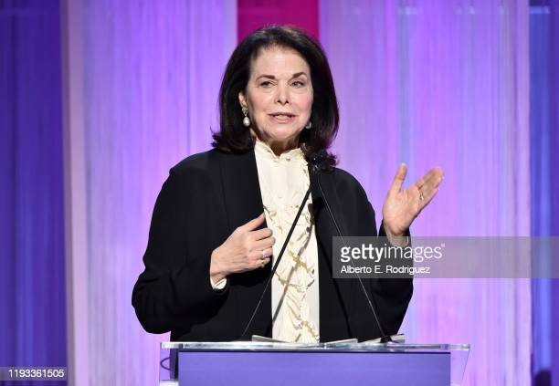 At The Sherry Lansing Foundation Sherry Lansing speaks onstage during The Hollywood Reporter's Power 100 Women in Entertainment at Milk Studios on...
