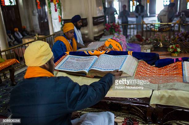 At the Sikh educational institute Damdami Taksal a group of students read from scripture Chowk Mehta India February 25 2014