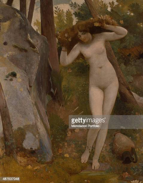 At the Source by Nino Costa 18631883 19th Century oil on canvas Italy Lazio Rome National Gallery of Modern and Contemporary ArtGNAM Whole artwork...
