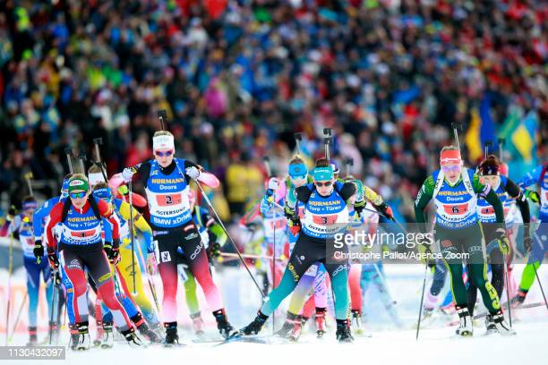 At the start during the IBU Biathlon World Championships Men's and Women's Single Mixed Relay on March 14, 2019 in Oestersund, Sweden.