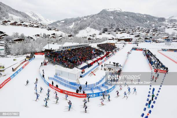at the start during the IBU Biathlon World Cup Men's and Women's Mass Start on December 17 2017 in Le Grand Bornand France