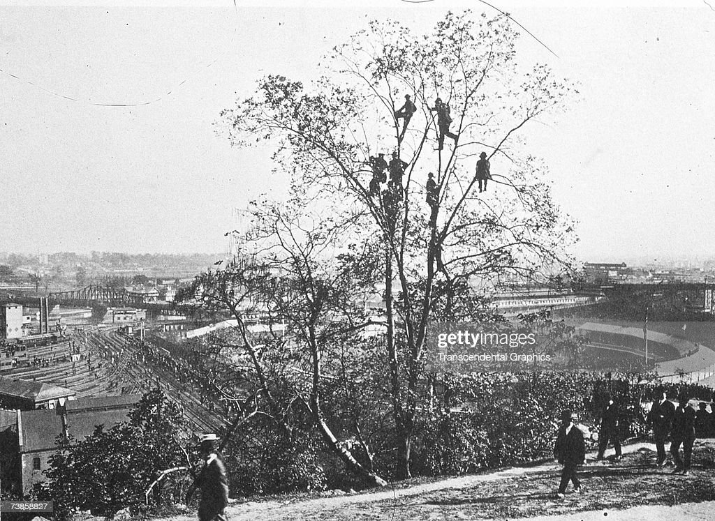 Above the Polo Grounds 1902 : News Photo