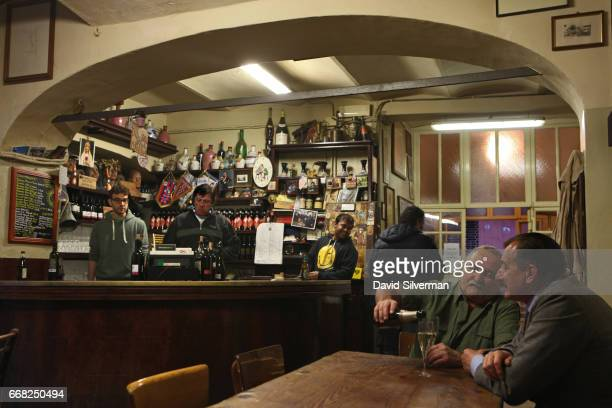 At the start of the evening only a few regulars can be found at the Osteria Del Sole bar on March 30 2017 in Bologna Italy in just a few hours it'll...