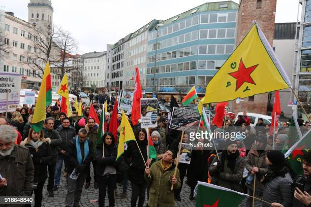 At the starting rally many protesters had YPG and YPJ flags. Among police more than 250 people demonstrated against the turkish invasion and...